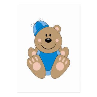 Cutelyn Baby Boy Silly Bear Large Business Card