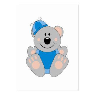 Cutelyn Baby Boy Silly Koala Bear Large Business Card