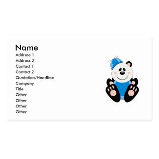 Cutelyn Baby Boy Silly Panda Bear Business Card