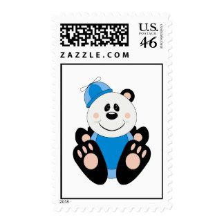 Cutelyn Baby Boy Silly Panda Bear Postage Stamp