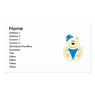 Cutelyn Baby Boy Silly Polar Bear Business Card