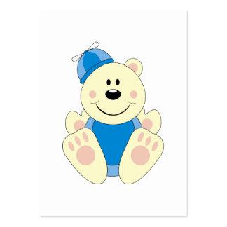 Cutelyn Baby Boy Silly Polar Bear Large Business Card