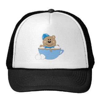 Cutelyn Baby Boy Snow Bear Mug Trucker Hat