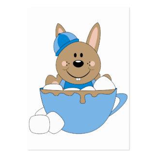 Cutelyn Baby Boy Snow Bunny Mug Business Card Template