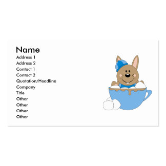 Cutelyn Baby Boy Snow Bunny Mug Double-Sided Standard Business Cards (Pack Of 100)
