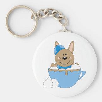 Cutelyn Baby Boy Snow Bunny Mug Key Chain