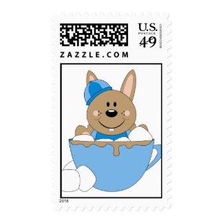 Cutelyn Baby Boy Snow Bunny Mug Postage Stamp