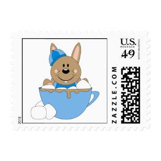 Cutelyn Baby Boy Snow Bunny Mug Stamp