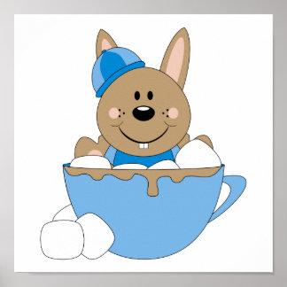 Cutelyn Baby Boy Snow Bunny Mug Poster