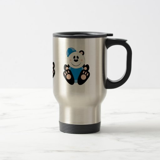 Cutelyn Baby Boy Snow Panda Bear Coffee Mugs