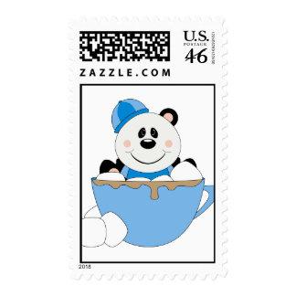 Cutelyn Baby Boy Snow Panda Bear Mug Postage Stamps