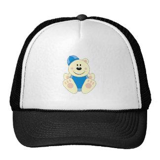 Cutelyn Baby Boy Snow Polar Bear Trucker Hat
