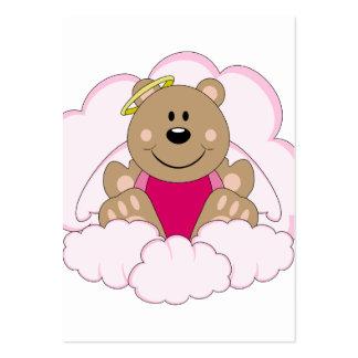 Cutelyn Baby Girl Angel Bear On Clouds Business Card Template