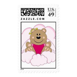 Cutelyn Baby Girl Angel Bear On Clouds Postage