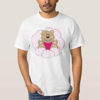 Cutelyn Baby Girl Angel Bear On Clouds T-Shirt