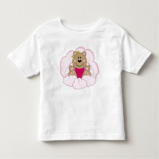 Cutelyn Baby Girl Angel Bear On Clouds Toddler T-shirt