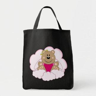 Cutelyn Baby Girl Angel Bear On Clouds Tote Bag