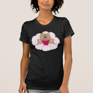 Cutelyn Baby Girl Angel Bear On Clouds Tee Shirt