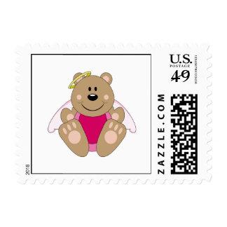 Cutelyn Baby Girl Angel Bear Stamps