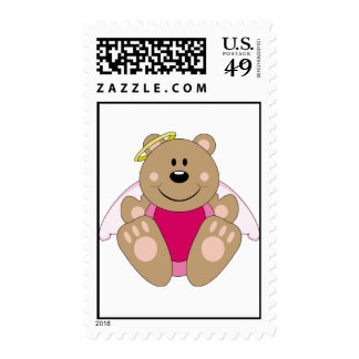 Cutelyn Baby Girl Angel Bear Postage Stamps