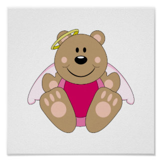 Cutelyn Baby Girl Angel Bear Posters