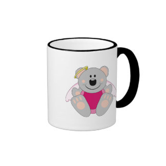 Cutelyn Baby Girl Angel Koala Bear Ringer Coffee Mug