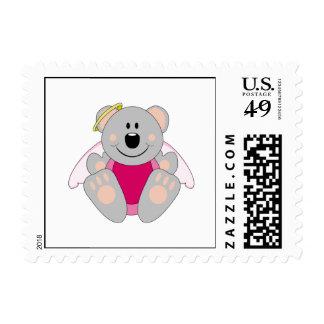 Cutelyn Baby Girl Angel Koala Bear Postage Stamps