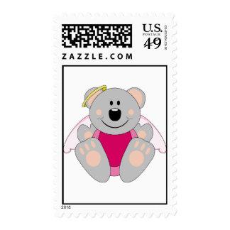 Cutelyn Baby Girl Angel Koala Bear Stamp