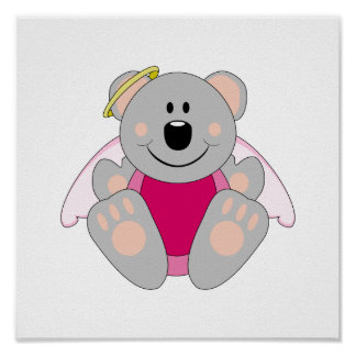 Cutelyn Baby Girl Angel Koala Bear Posters