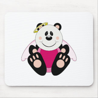 Cutelyn Baby Girl Angel Panda Bear Mouse Pad