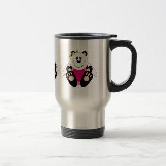 Cutelyn Baby Girl Angel Panda Bear 15 Oz Stainless Steel Travel Mug