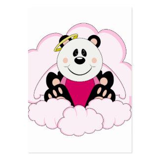 Cutelyn Baby Girl Angel Panda Bear On Clouds Business Card