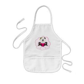 Cutelyn Baby Girl Angel Panda Bear On Clouds Kids' Apron