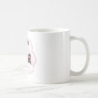 Cutelyn Baby Girl Angel Panda Bear On Clouds Classic White Coffee Mug