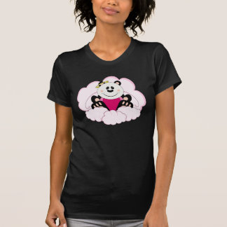 Cutelyn Baby Girl Angel Panda Bear On Clouds Tee Shirt