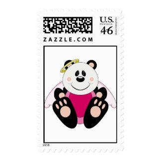 Cutelyn Baby Girl Angel Panda Bear Stamps