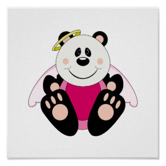 Cutelyn Baby Girl Angel Panda Bear Print