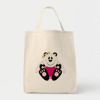 Cutelyn Baby Girl Angel Panda Bear Tote Bag