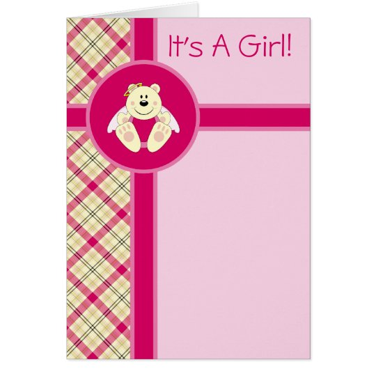 Cutelyn Baby Girl Angel Polar Bear Announcement