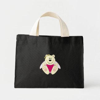 Cutelyn Baby Girl Angel Polar Bear Mini Tote Bag