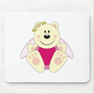 Cutelyn Baby Girl Angel Polar Bear Mouse Pad