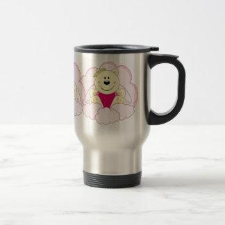 Cutelyn Baby Girl Angel Polar Bear On Clouds 15 Oz Stainless Steel Travel Mug