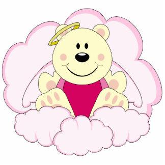 Cutelyn Baby Girl Angel Polar Bear On Clouds Acrylic Cut Outs