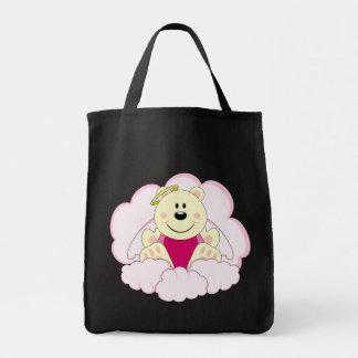 Cutelyn Baby Girl Angel Polar Bear On Clouds Tote Bag