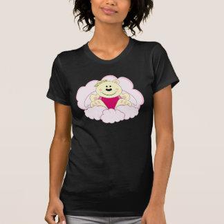 Cutelyn Baby Girl Angel Polar Bear On Clouds T-shirts