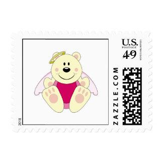 Cutelyn Baby Girl Angel Polar Bear Postage Stamp