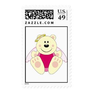 Cutelyn Baby Girl Angel Polar Bear Stamps