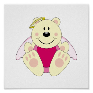 Cutelyn Baby Girl Angel Polar Bear Posters