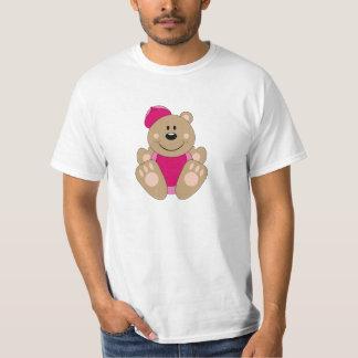 Cutelyn Baby Girl Baseball Bear T-Shirt