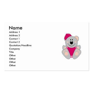 Cutelyn Baby Girl Baseball Koala Bear Double-Sided Standard Business Cards (Pack Of 100)